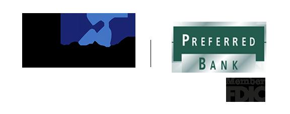 Elavon logo and Preferred Bank logo. Preferred Bank is a FDIC member.